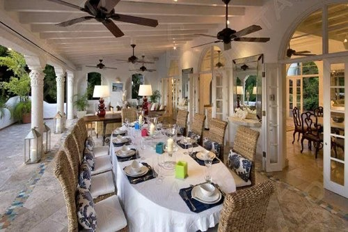 alfresco dining room Villa Elsewhere Barbados