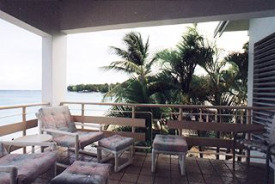 beachfront condominium patio barbados