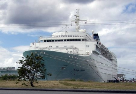 cruise ship docked in bridgetown