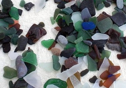 beach glass found between gibbs and mullins beaches barbados