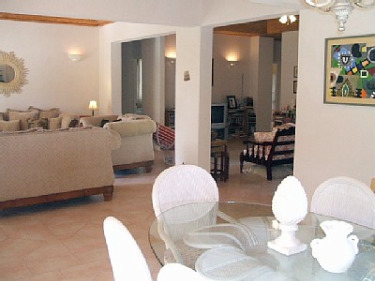 living area barbados rental by owner
